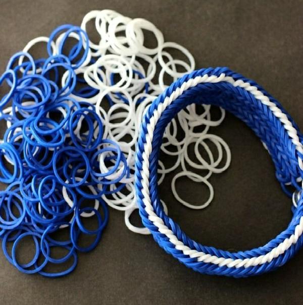 Gummi armbänder blau weiß armbänder flechten