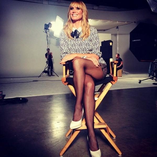Heidi Klum backstage germanys next top model