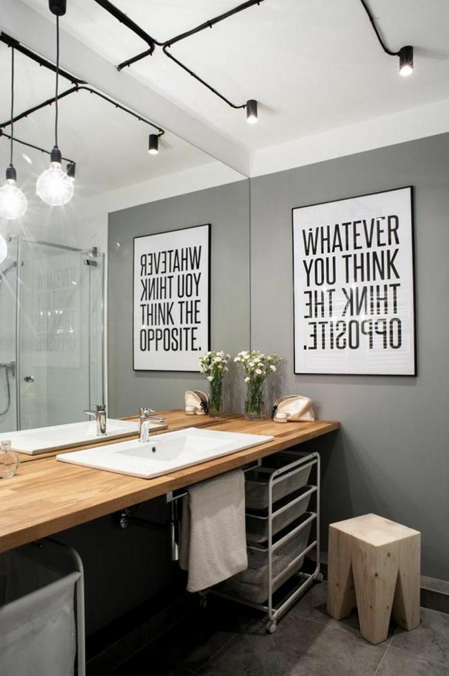 Charmant Kleines Bad Gestalten Kreative Wanddeko Ideen