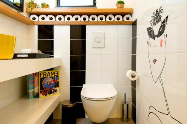 Kleines bad gestalten und kreativ dekorieren for Wand im bad gestalten