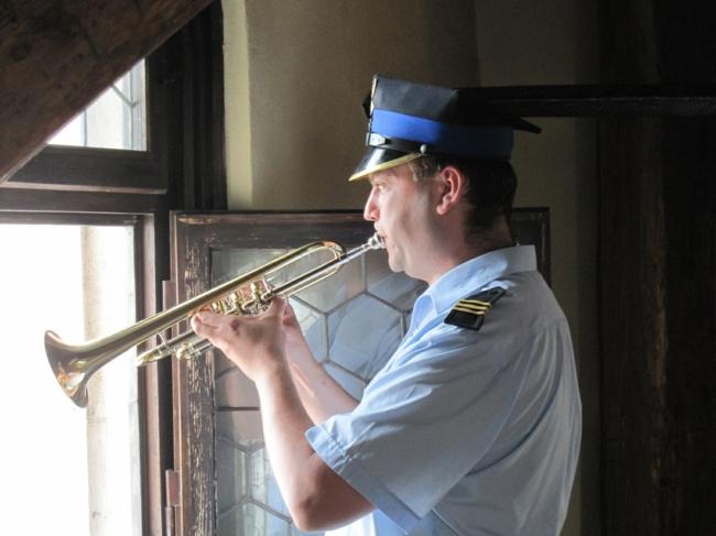 Krakau Polen die trompeten von krakau alte tradition
