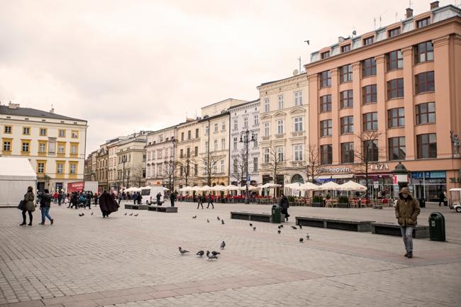 Krakau Polen hauptstadt hauptplatz gebäude