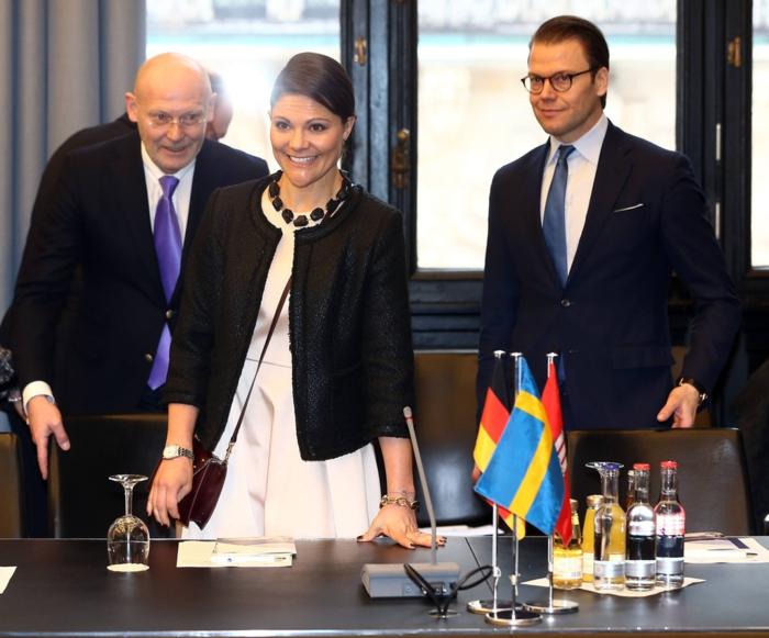 Prinzessin Victoria und Ehemann Daniel Westling in Hamburg