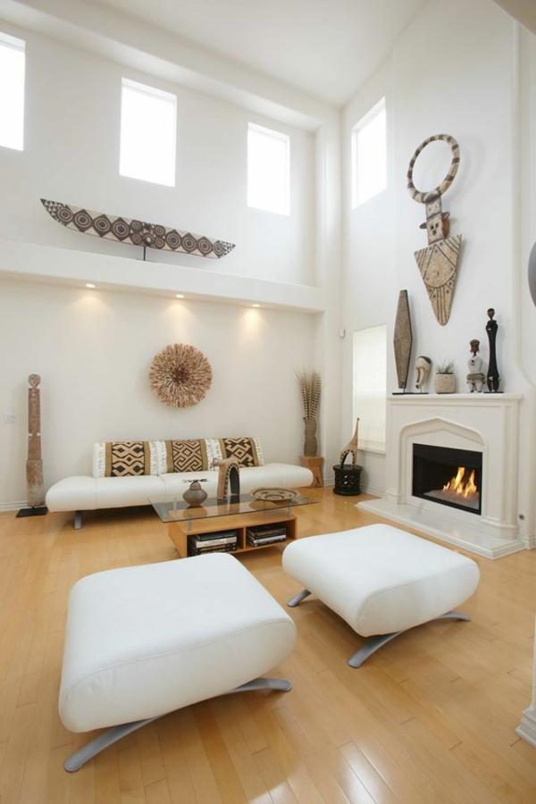 afrika deko dekoartikel modernes wohnzimmer weiß
