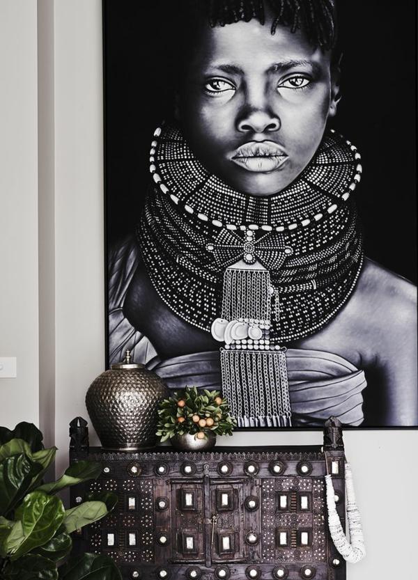 afrika deko inspiration wanddeko ideen afrikanische frau