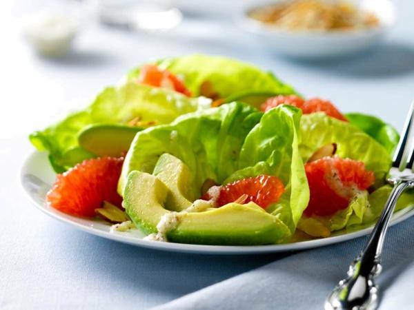 avocado rezepte frischer salat grapefruit eisberg salat