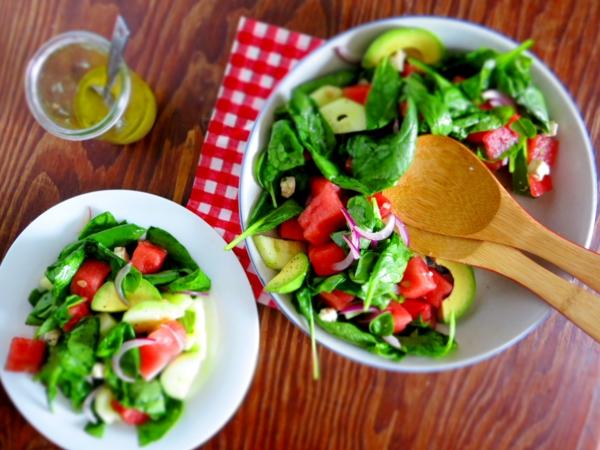 avocado rezepte sommersalat wassermelone blattsalat