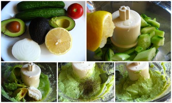 avocado rezepte sommersuppe gurke zitrone tomate