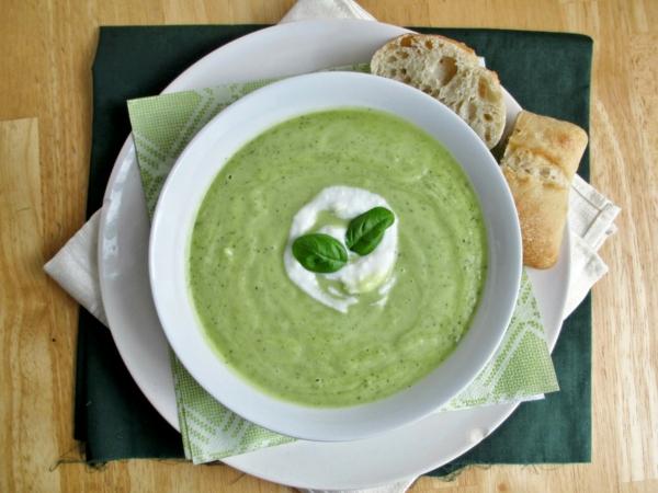 avocado rezepte zucchini gekühlte suppe