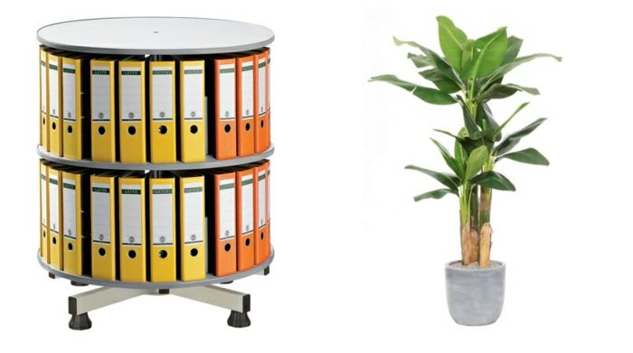 büroeinrichtung planen homeoffice einrichten zimmerpflanzen