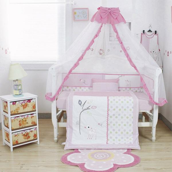 babybett himmel schönes babyzimmer gestalten