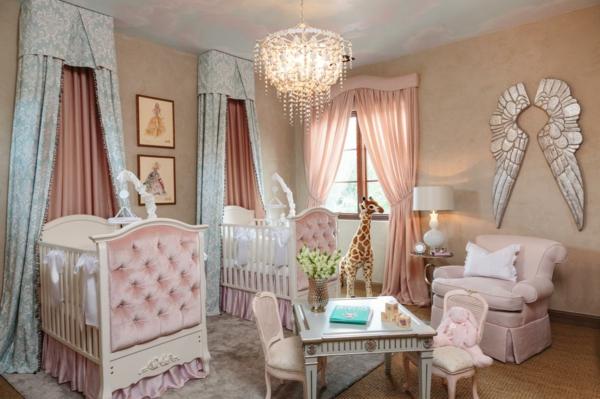 babybetten luxuriöses babyzimmer gestalten zwei kinder