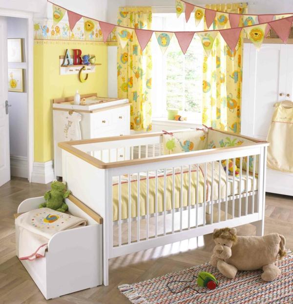 Babyzimmer gestalten was macht das sch ne babyzimmer aus - Gelbe gardinen ...