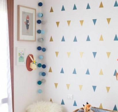 niedliche babyzimmer wandgestaltung inspirierende. Black Bedroom Furniture Sets. Home Design Ideas