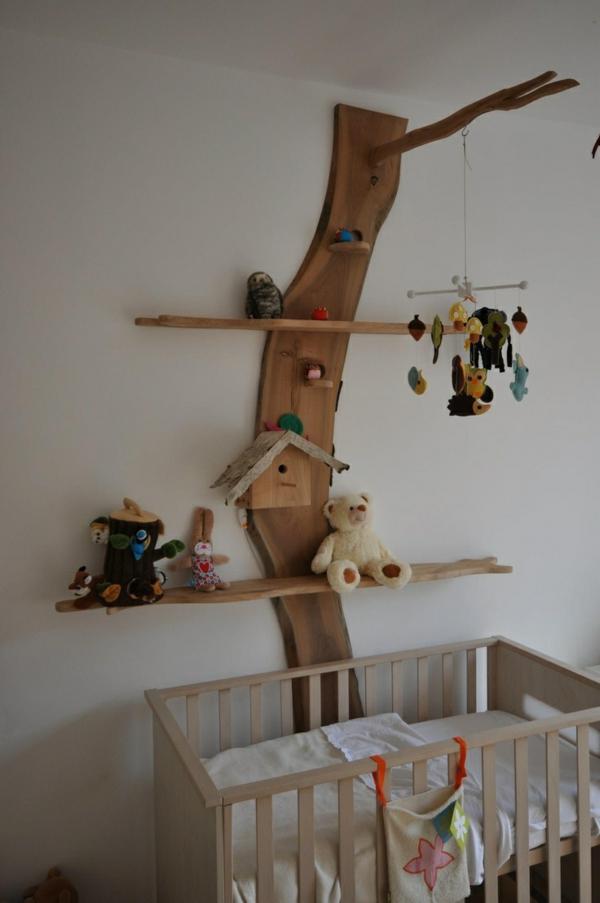 babyzimmer wandgestaltung vögelhäuschen wanddeko