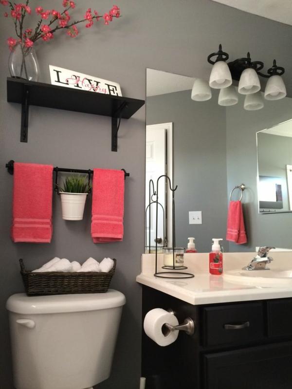 badezimmer renovieren neu gestalten akzentfarbe