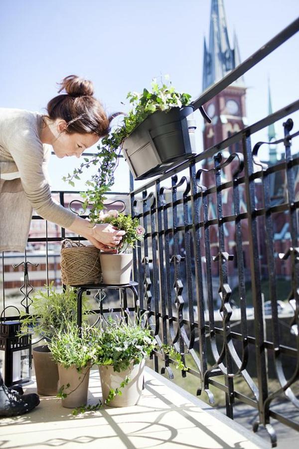 balkonbepflanzung ideen blumentöpfe balkon gestalten
