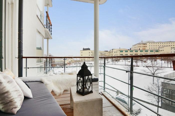 balkongestaltung ideen tolle aussicht winter