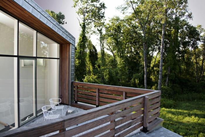 balkongestaltung modern schön außenbereich gestalten