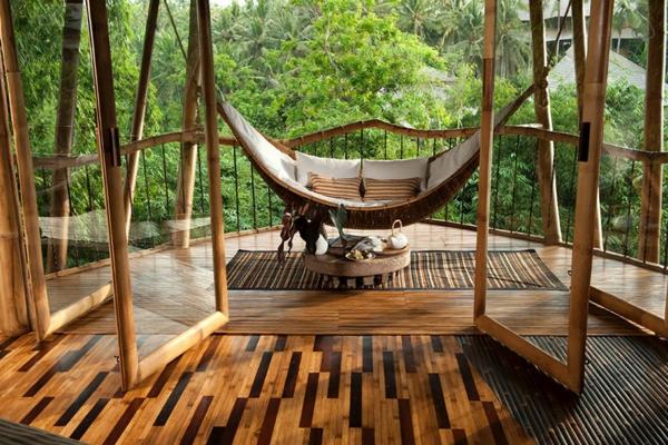bambus holz hängematte parkett