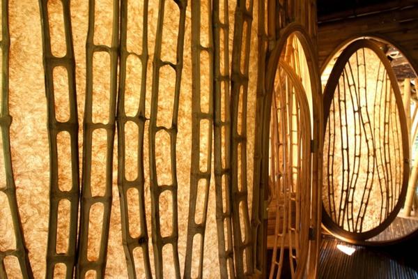 bambus holz organische formen fenster türen