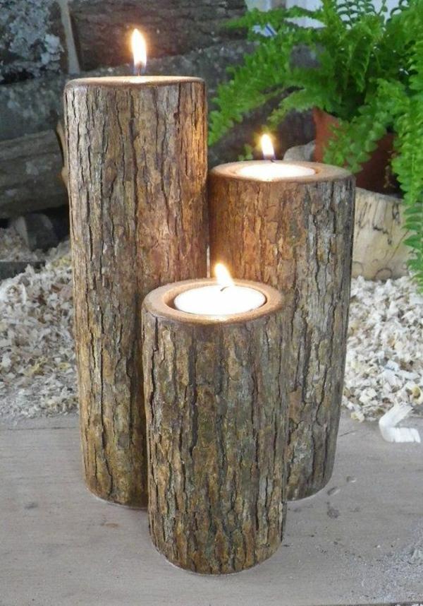 Pinterest handmade wood garden crafts just b cause for Deko baumstamm