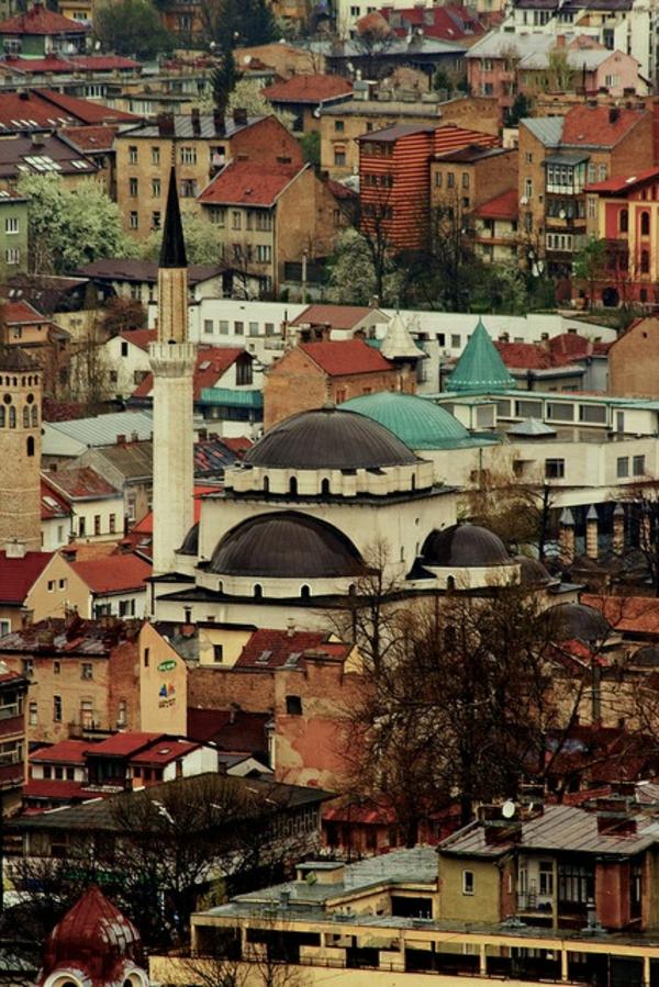 bosnien herzegowina hauptstadt sarajewo stadtaussicht