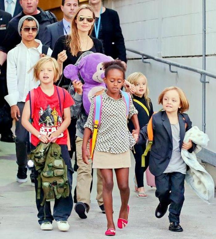 brad pitt und Angelina Jolie Kinder unterwegs
