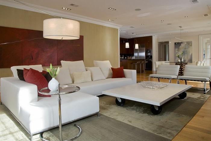 couch tisch auf rollen weiß rechteckig