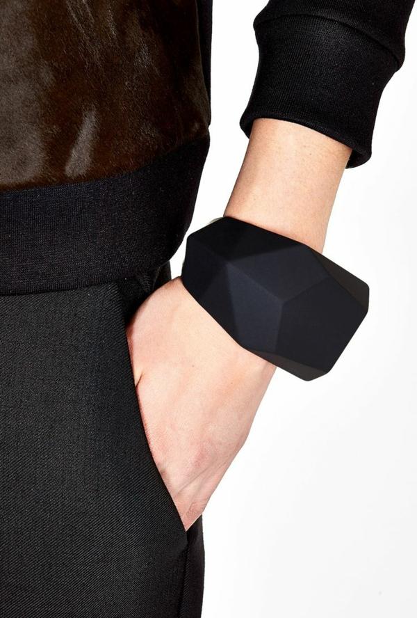 damenarmbänder modern schwarz schmuck accessoires