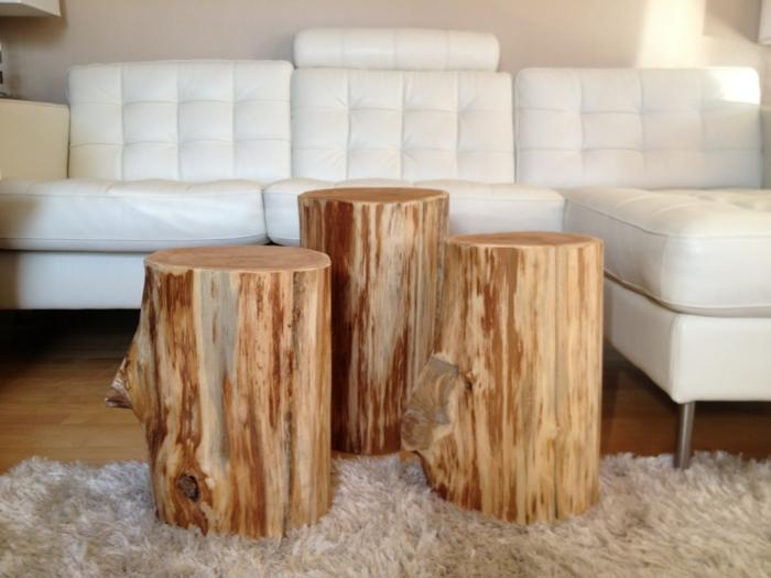diy möbel holzklotze beistelltische serenity stumps