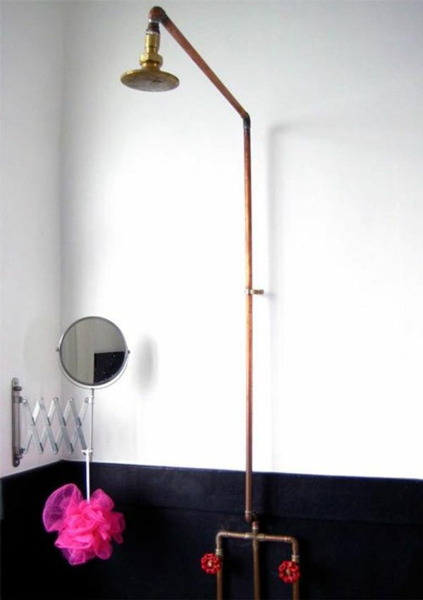 dusche renovieren alte badezimmerarmatur tauschen