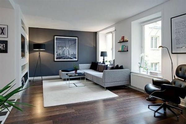 einrichtungsideen geräumiges wohnzimmer pflanzen weißer teppich