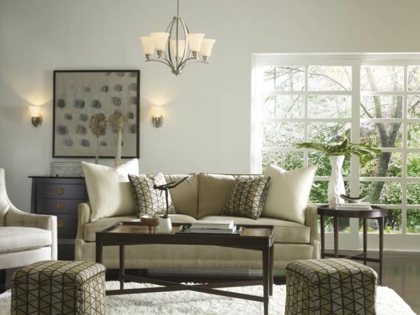 wandleuchten innen einrichtungsideen wohnzimmer design leuchter wandleuchten weißer teppich