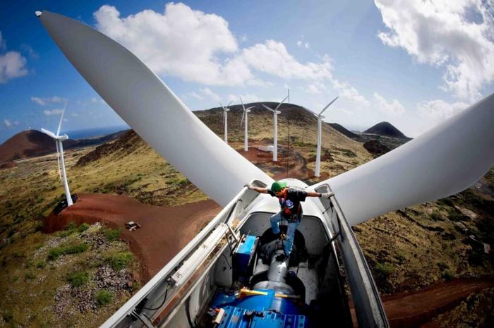 energieumwandlung windanlage turm wartung