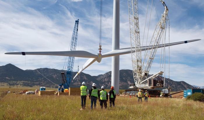 energieumwandlung windfarm konstruktion montage