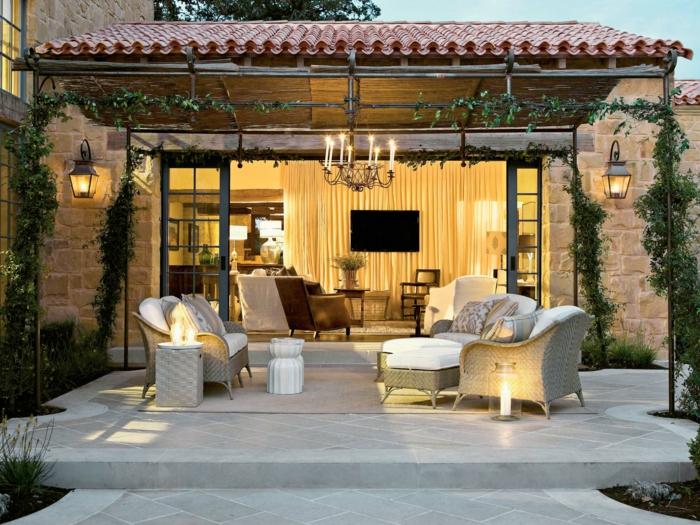 entspann dich moderner außenbereich tolle außenmöbel pflanzen