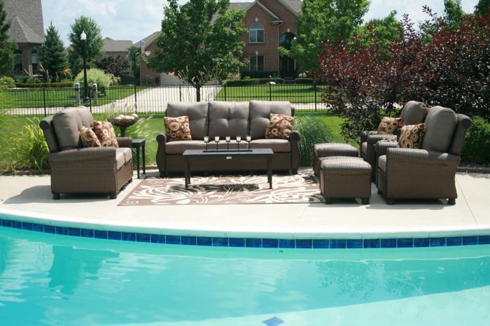 entspann dich schwimmbad gestalten stilvolle außenmöbel