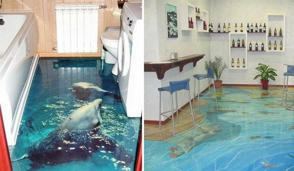 epoxidharz bodenbelag bad delfine meeresboden dreidimensioniert