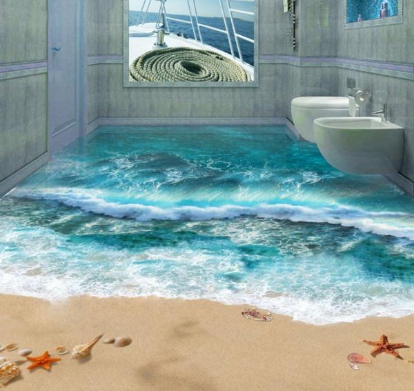 3d bodenbelag aus epoxidharz - innovative technologie und naturmotive - Böden Für Badezimmer