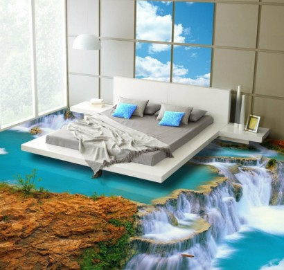 3d Bodenbelag Aus Epoxidharz Innovative Technologie Und Naturmotive
