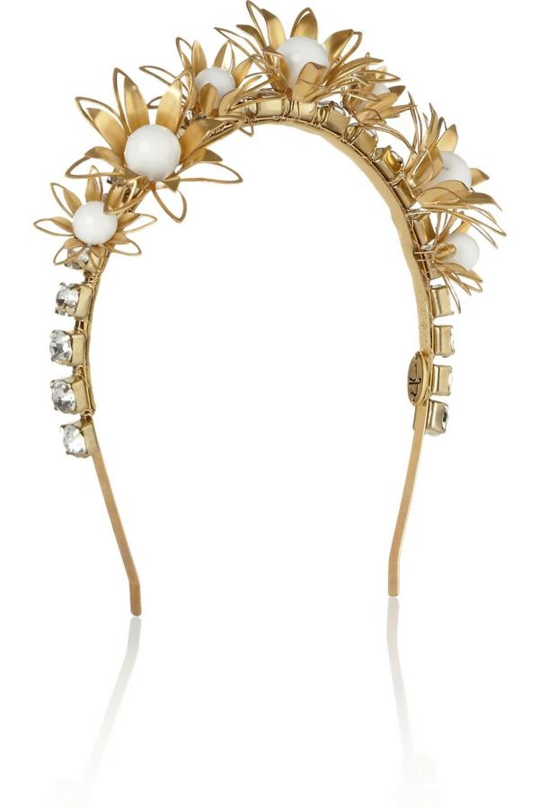 frisuren 2015 dolce gabbana haarreife gold steine perlen