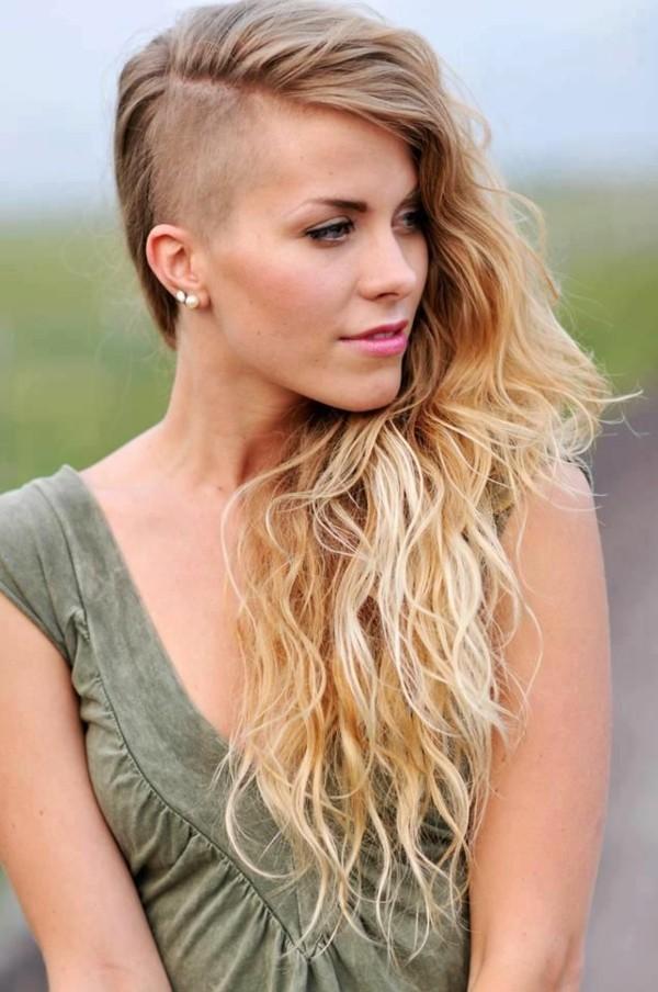 frisuren langes haar undercut