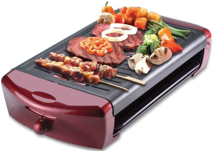 gartengrill design elektrisch fleisch gemüse