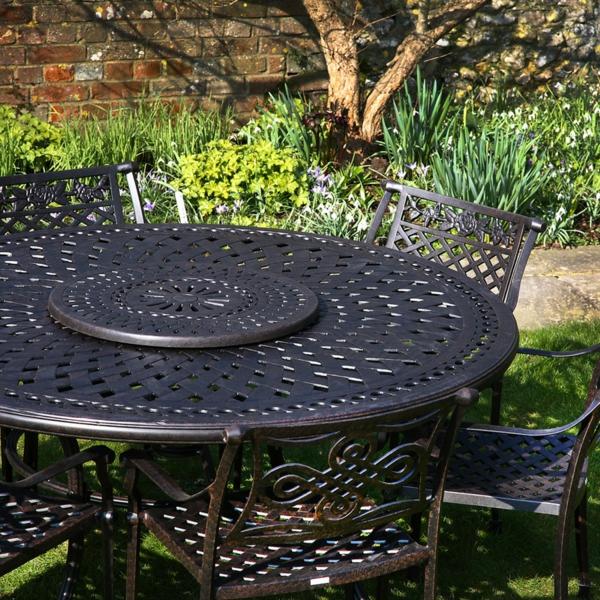 gartenset schmiedeeisen runder tisch stühle