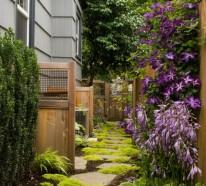 Schicke Gartenwege aus Naturstein oder Zement für den Garten