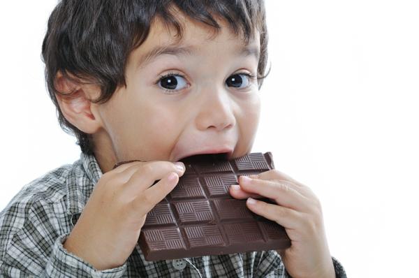 gesunde ernährung für  kinder süßigkeiten schokolade