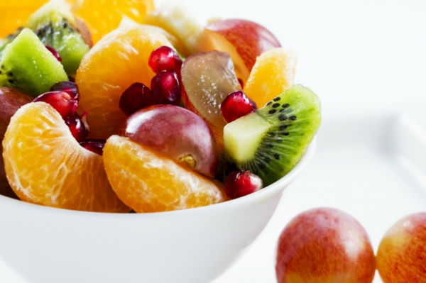 gesunde frühstücksideen frischer obstsalat