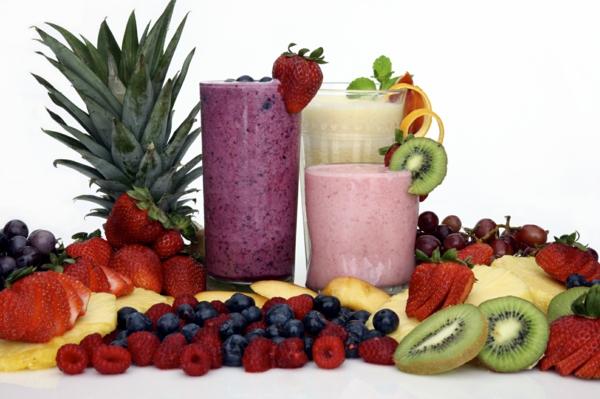 gesunde frühstücksideen vitamine mineralien smoothies