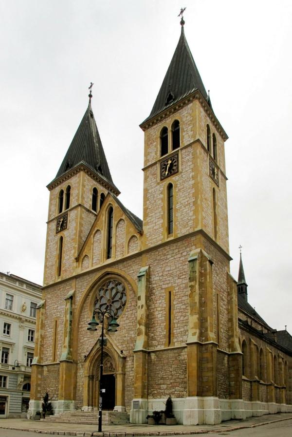 hauptstadt bosnien herzegowina sarajewo kathedrale